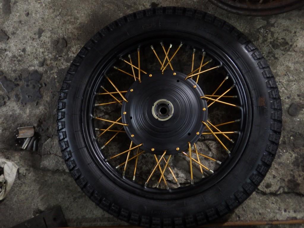 вот колесо новое сделал на передок